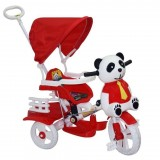 Dilaver Panda 3 Tekerli İtmeli Müzikli Bisiklet (Kırmızı)