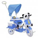 Dilaver Panda 3 Tekerli İtmeli Müzikli Bisiklet (Mavi)