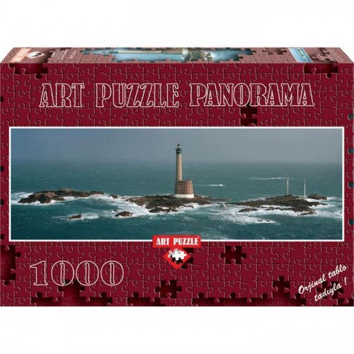 Art 1000 Parça Panorama Puzzle Les Roches Douvre Light House 4341