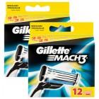 Gillette Mach3 Yedek Tıraş Bıçağı 12 li x 2 Adet
