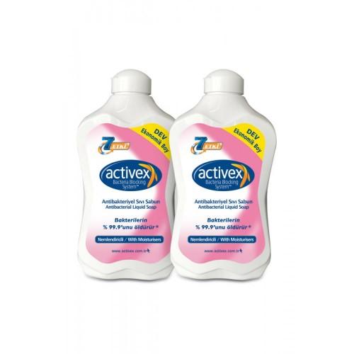 Activex Antibakteriyel Sıvı Sabun Nemlendirici 1.5 lt x 2 Adet