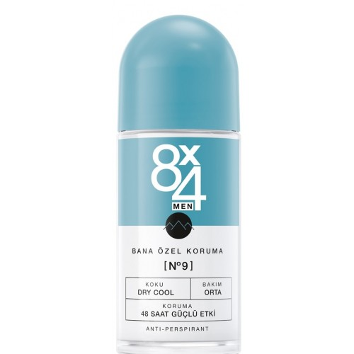 8x4 Men Dry Cool No 9 Roll-On 50 ml