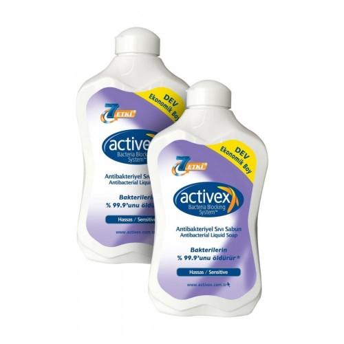 Activex Antibakteriyel Sıvı Sabun Hassas 1.5 lt x 2 Adet