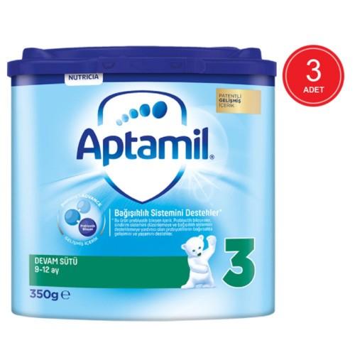 Aptamil 3 Akıllı Kutu Devam Sütü 350 gr x 3 Adet