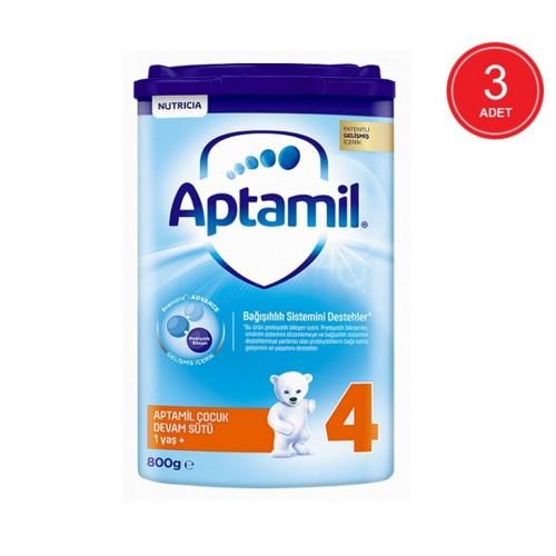 Aptamil 4 Akıllı Kutu Devam Sütü 800 gr x 3 Adet