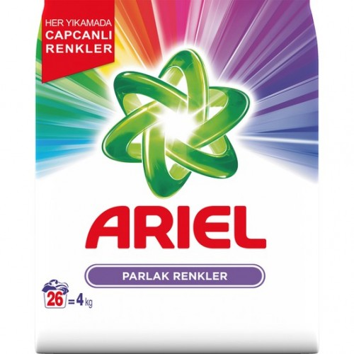 Ariel Toz Çamaşır Deterjanı Parlak Renkler 4 kg