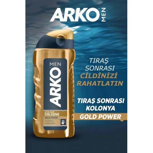 Arko Men Tıraş Kolonyası Gold Power 250 ml x 2 Adet