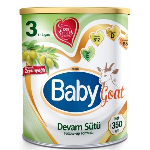 Baby Goat 3 Keçi Sütlü Organik Zeytinyağlı Devam Sütü 350 gr