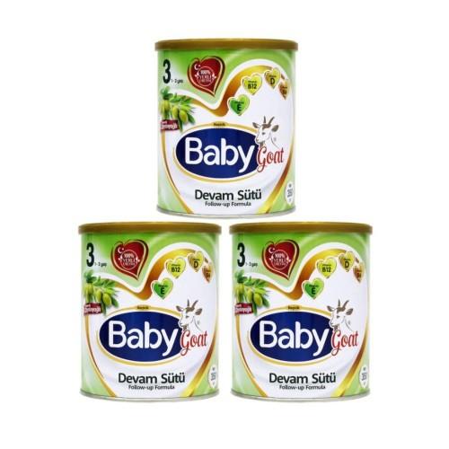 Baby Goat 3 Keçi Sütlü Organik Zeytinyağlı Devam Sütü 350 gr x 3 Adet