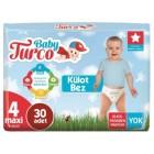 Baby Turco Külot Bebek Bezi 4 Beden Maxi 30 lu