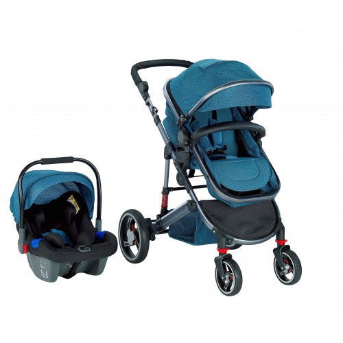 Baby2Go 2039 Star Plus Travel Sistem Bebek Arabası - Mavi