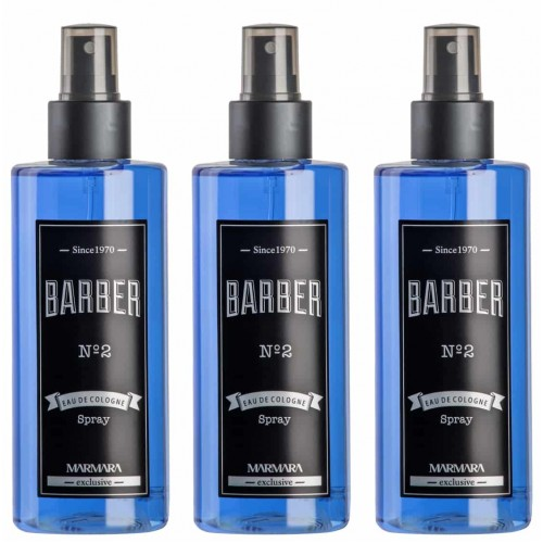 Barber No 2 Sprey Kolonya 250 ml x 3 Adet