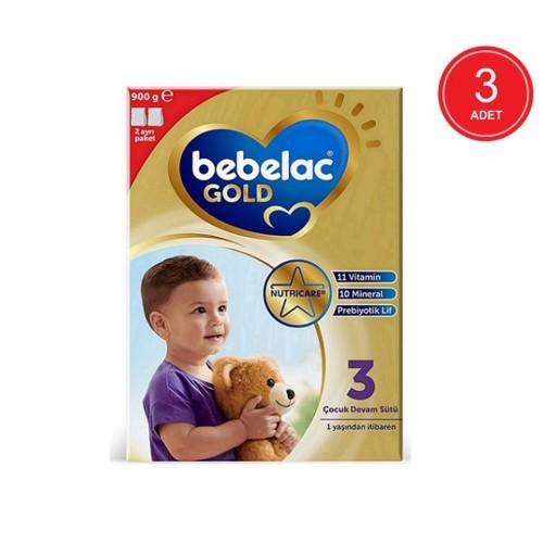 Bebelac Gold 3 Çocuk Devam Sütü 900 gr x 3 Adet