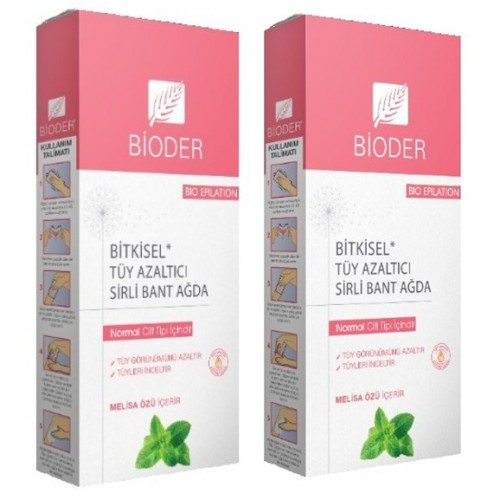 Bioder Epiten Melisa Normal Citler İçin Sirli Ağda Bandı 12li x 2 Adet