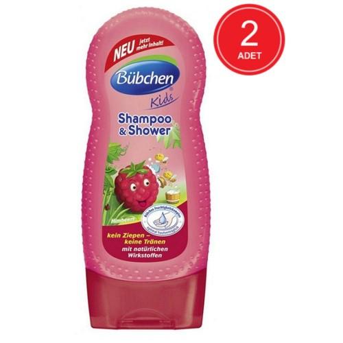 Bübchen Frambuazlı Çocuk Şampuanı ve Duş Jeli 230 ml x 2 Adet