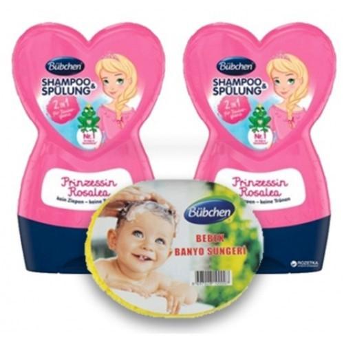 Bübchen Prenses Rosalea Çocuk Şampuanı + Balsam 230 ml 2 li + Sünger