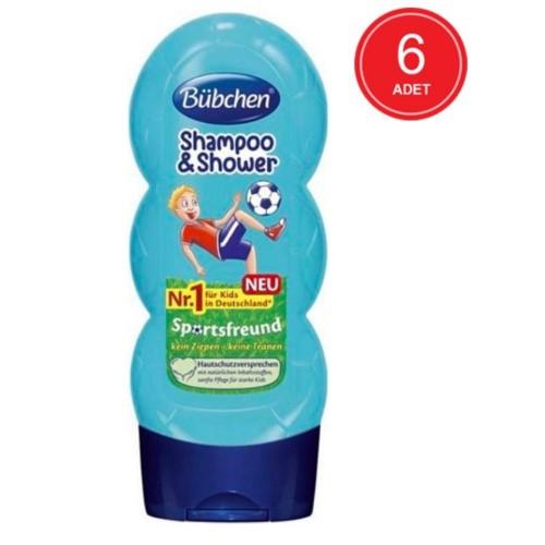 Bübchen Sport Çocuk Şampuanı ve Duş Jeli 230 ml x 6 Adet