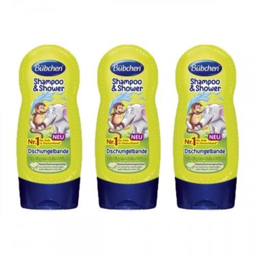 Bübchen Tropik Orman Çocuk Şampuanı ve Duş Jeli 230 ml x 3 Adet
