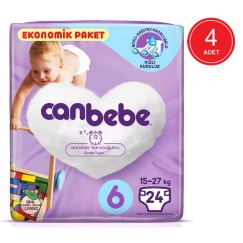 Canbebe Bebek Bezi 6 Beden / XL Aylık Ekonomik Paket 96 Adet