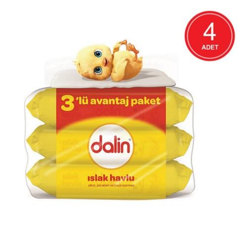 Dalin Islak Temizleme Mendili 56lı(3 Lü Paket) x 4 Adet
