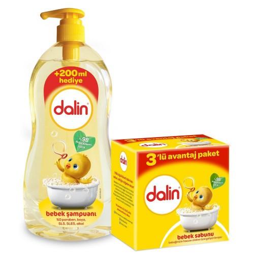 Dalin Şampuan Klasik 900 ml + Sabun 100 gr 3 lü