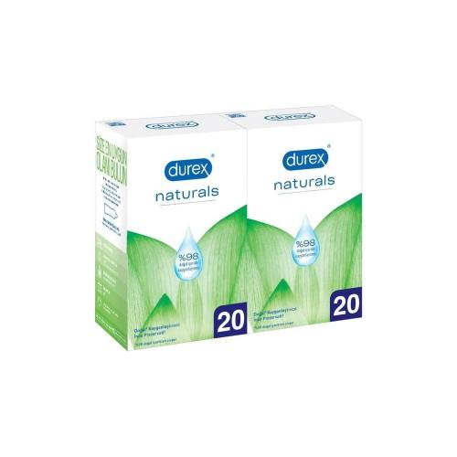 Durex Naturals Prezervatif Ekstra Avantaj Paketi 40 lı