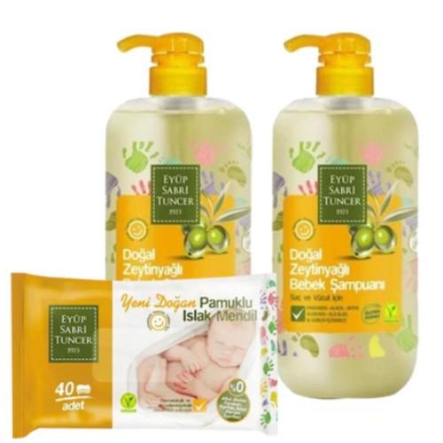 Eyüp Sabri Tuncer Bebek Şampuanı Zeytinyağlı 600 ml x 2 Adet (Hediyeli)