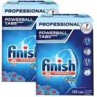 Finish Professional Bulaşık Makinesi Tableti 125 li x2 Adet