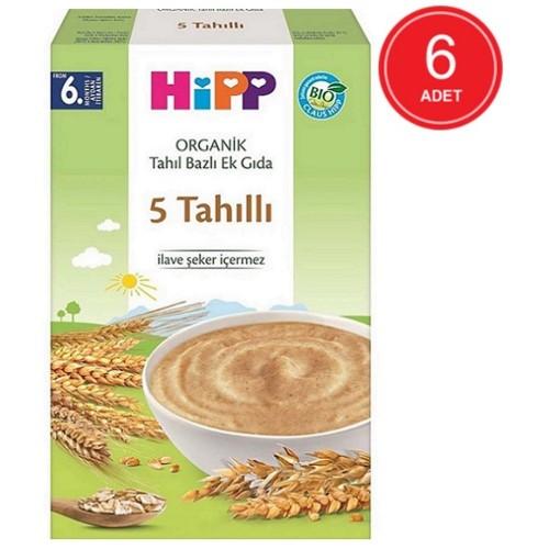 Hipp Organik 5 Tahıllı Kaşık Maması 200 gr x 6 Adet
