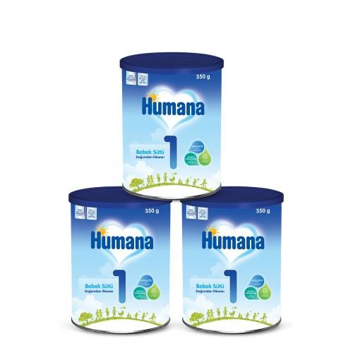 Humana 1 Bebek Maması Metal Kutu 350 Gr x 3 Adet