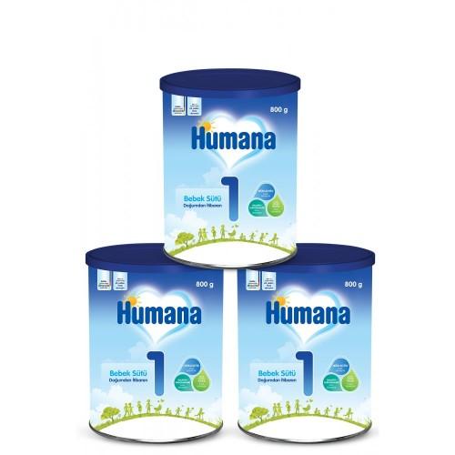 Humana 1 Bebek Maması Metal Kutu 800 Gr x 3 Adet