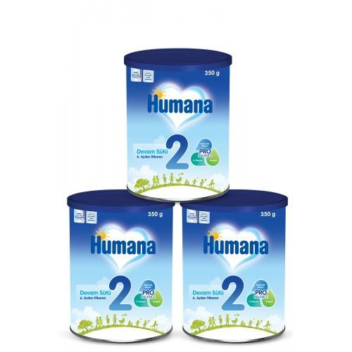 Humana 2 Bebek Maması Metal Kutu 350 Gr x 3 Adet