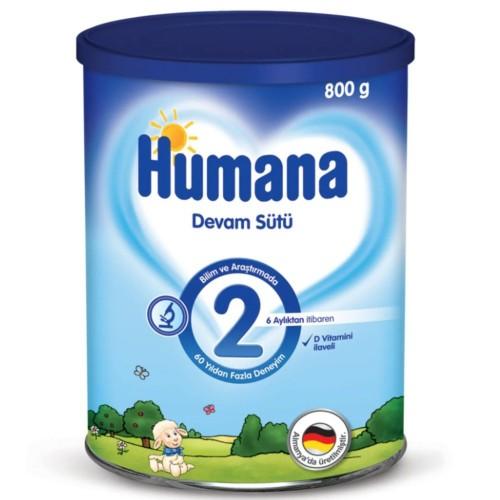 Humana 2 Bebek Maması Metal Kutu 800 gr x 2 Adet