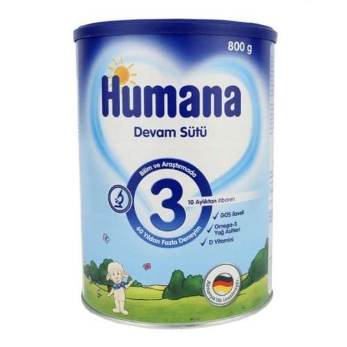 Humana 3 Bebek Maması Metal Kutu 800 gr