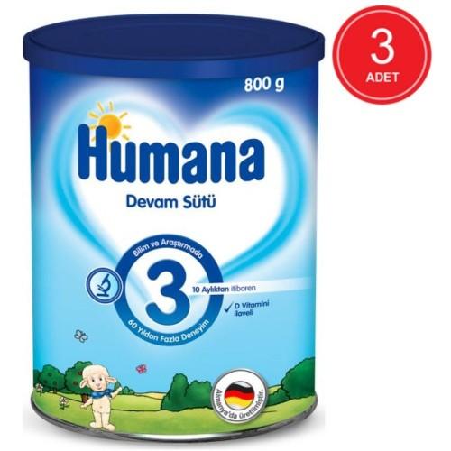 Humana 3 Bebek Maması Metal Kutu 800 Gr x 3 Adet