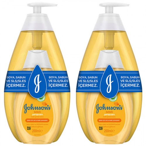 Johnsons Baby Şampuan Set 750 ml + 200 ml x 2 Adet