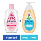 Johnsons Kolonya Floral 200 ml + Sıvı Sabun 300 ml Hijyen Seti