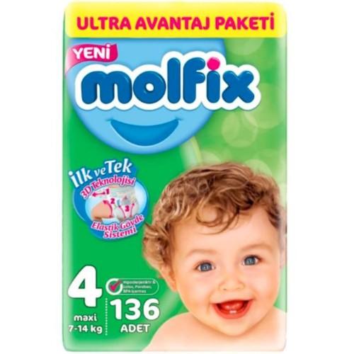 Molfix Bebek Bezi Ultra Avantaj Paketi Maxi 4 No 136 lı