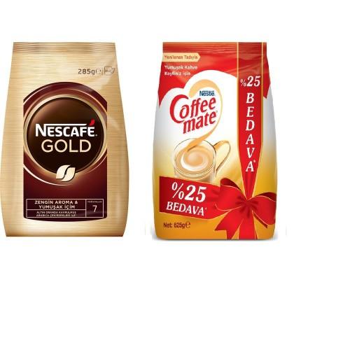Nescafe Gold Ekonomik Paket 285 Gr + Nestle Coffee Mate 625 gr