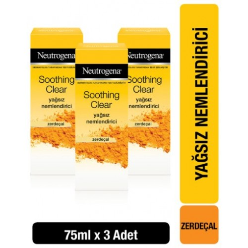 Neutrogena Soothing Clear Nemlendirici 75 ml x 3 Adet