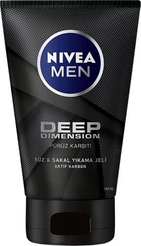 Nivea Men Deep Dimension Yüz ve Sakal Temizleme Jeli 100 ml