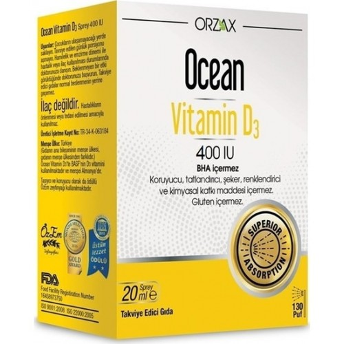 Ocean Vitamin D3 400 IU Sprey 20 ml