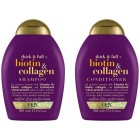 Ogx Biotin & Collagen Şampuan 385 ml + Saç Kremi 385 ml