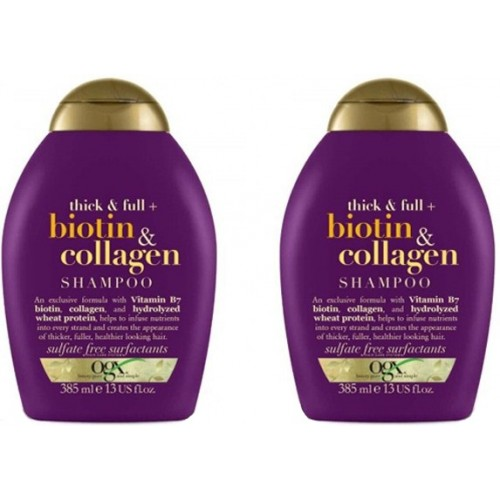 Ogx Biotin & Collagen Şampuan 385 ml x 2 Adet