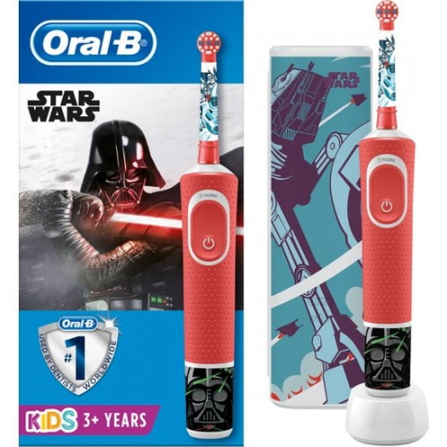 Oral-B Çocuk D100 Star Wars Şarj Edilebilir Diş Fırçası + Seyahat Kabı