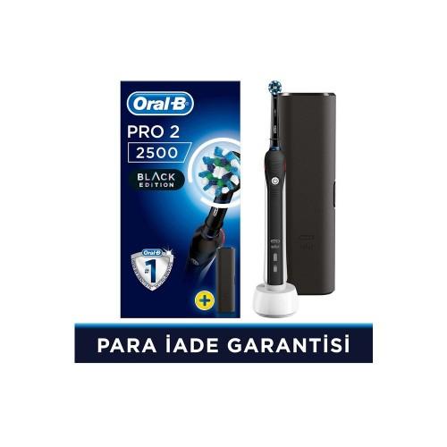 Oral-B Pro 2500 Şarjlı Diş Fırçası Cross Action Siyah + Seyahat Kabı