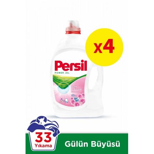Persil Jel Sıvı Çamaşır Deterjanı Gülün Büyüsü 33 Yıkama x 4 Adet
