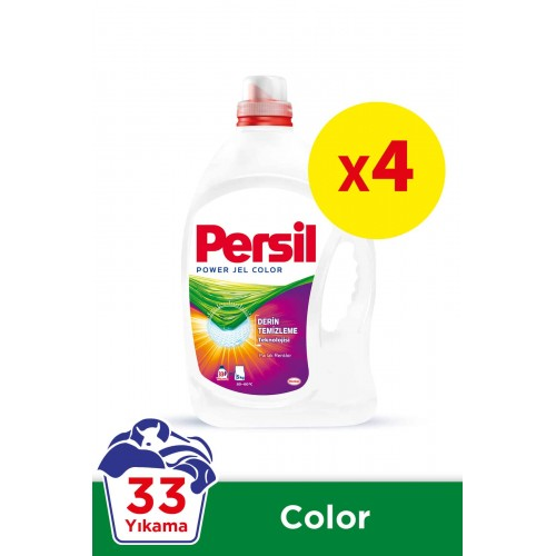 Persil Jel Sıvı Çamaşır Deterjanı Renkliler İçin 33 Yıkama x 4 adet