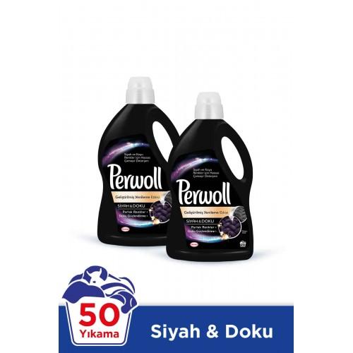 Perwoll Sıvı Çamaşır Deterjanı Siyah 3 lt x 2 Adet