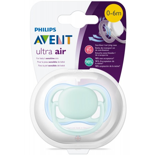 Philips Avent SCF444/10 Ultra Air Tekli Emzik 0-6 Ay (Mavi)